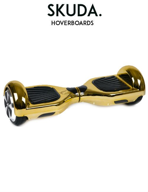 SKUDA Hoverboard Sale Gold Chrome Swegway